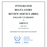 Greece complied to all recommendations for the national radiation protection and nuclear safety system (IRRS Final Report)