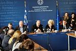 O Αν. Υπουργός Έρευνας & Καινοτομίας Κώστας Φωτάκης ενημερώνει τον Τύπο